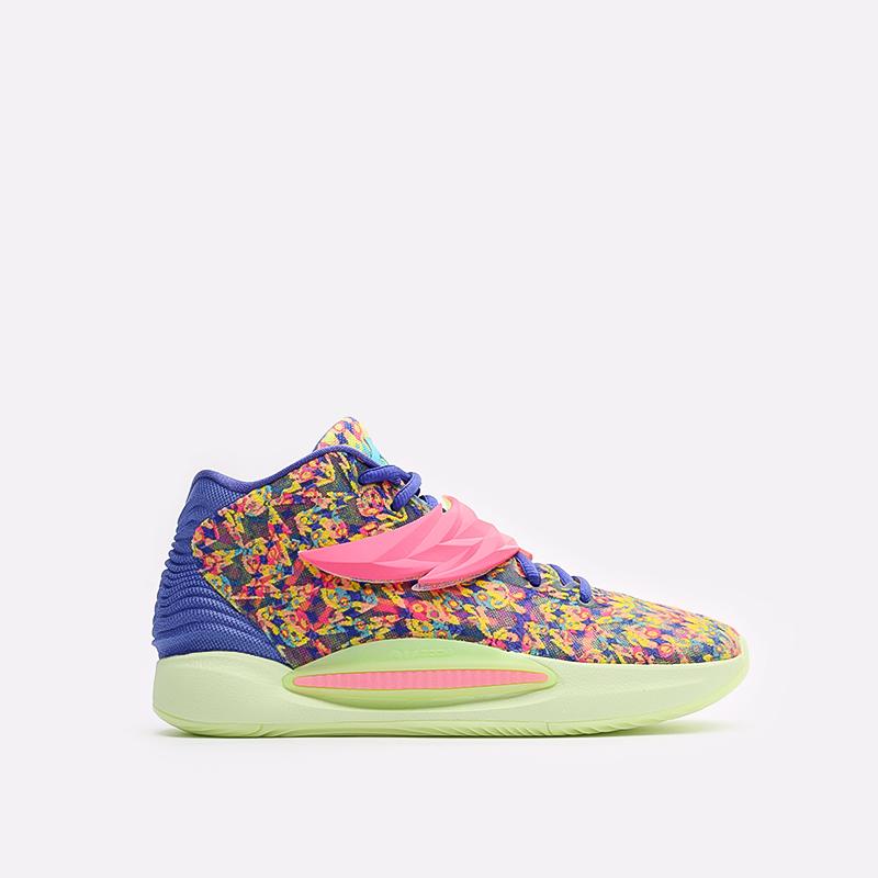 мужские разноцветные баскетбольные кроссовки Nike KD14 DO6903-400 - цена, описание, фото 1