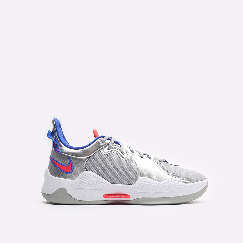 мужские серые баскетбольные кроссовки Nike PG 5 CW3143-005 - цена, описание, фото 1