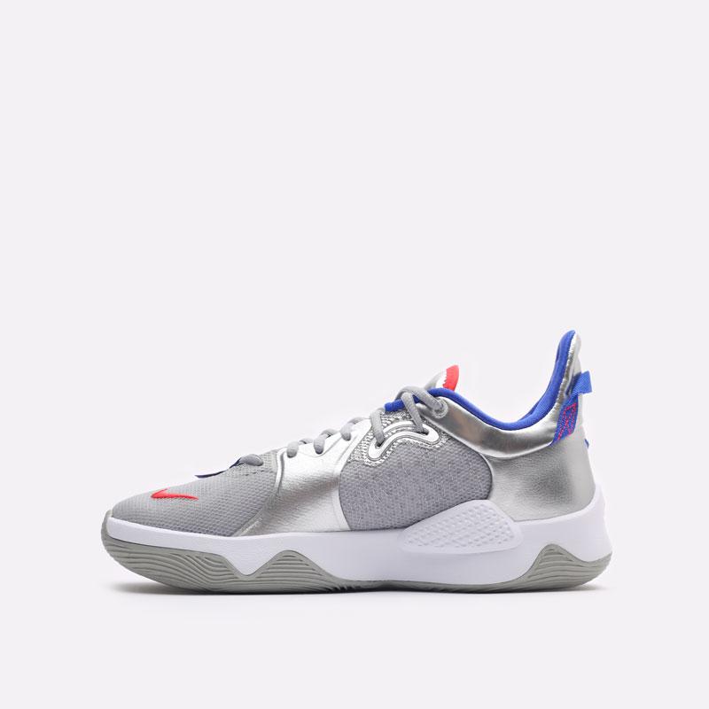 мужские серые баскетбольные кроссовки Nike PG 5 CW3143-005 - цена, описание, фото 2