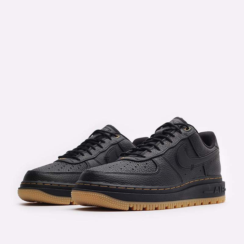 мужские черные кроссовки Nike Air Force 1 Luxe DB4109-001 - цена, описание, фото 4