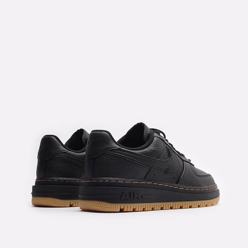 мужские черные кроссовки Nike Air Force 1 Luxe DB4109-001 - цена, описание, фото 3