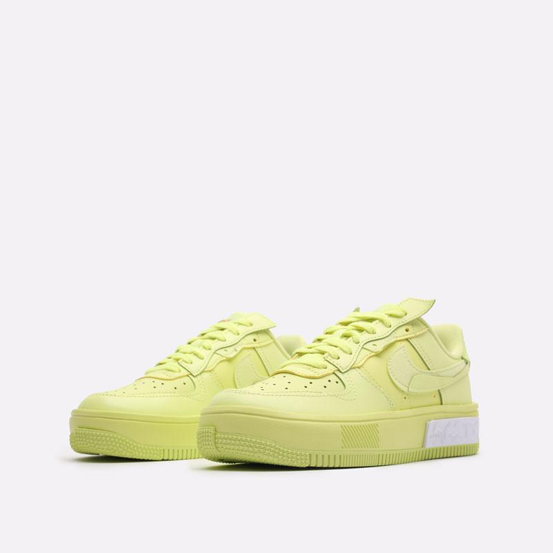 женские желтые кроссовки Nike WMNS Air Force 1 Fontanka DA7024-700 - цена, описание, фото 4
