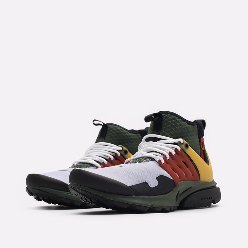 мужские разноцветные кроссовки Nike Air Presto Mid Utility DC8751-300 - цена, описание, фото 4