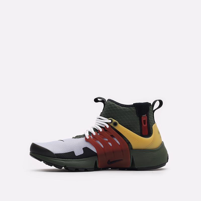 мужские разноцветные кроссовки Nike Air Presto Mid Utility DC8751-300 - цена, описание, фото 2