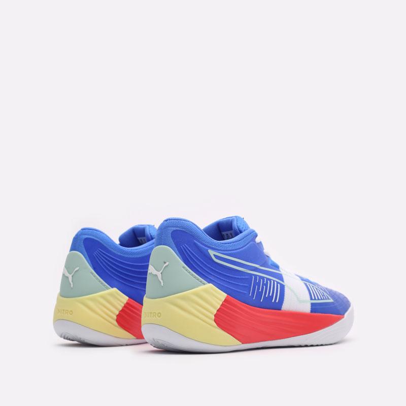 мужские синие баскетбольные кроссовки PUMA Fusion Nitro 19551402 - цена, описание, фото 3