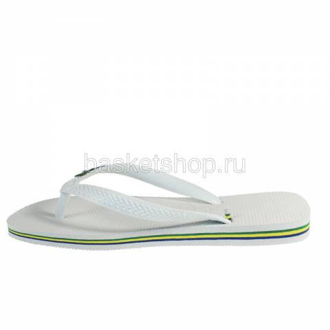 Купить белые, зеленые, синие  сланцы brasil logo в магазинах Streetball - изображение 2 картинки