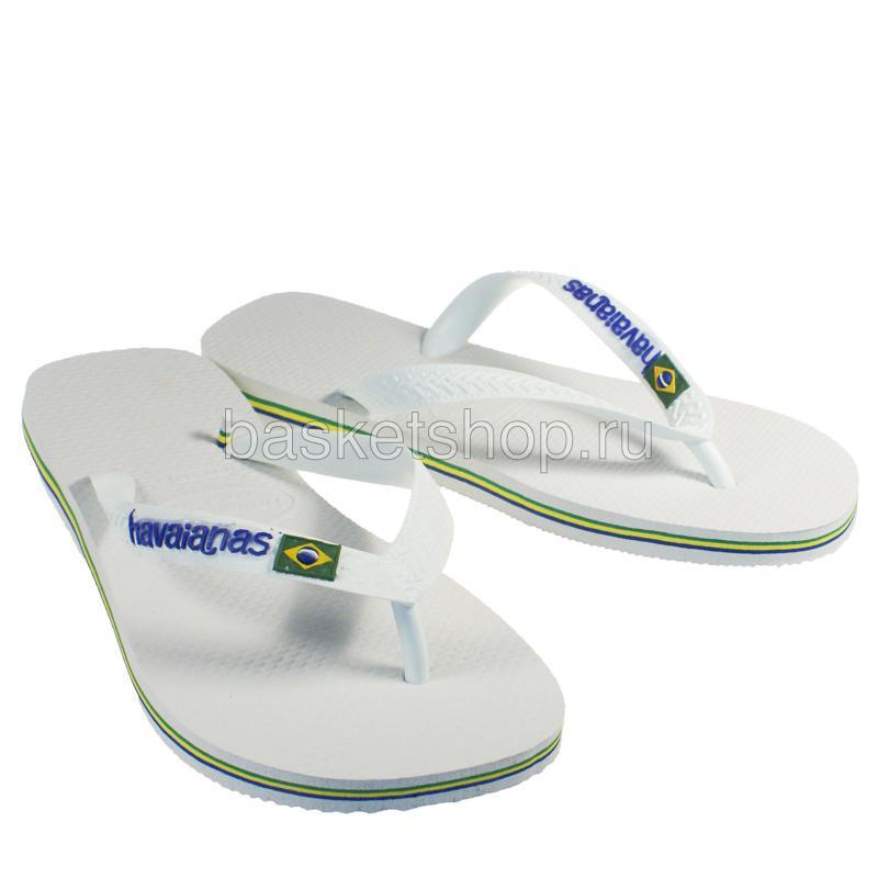 Купить белые, зеленые, синие  сланцы brasil logo в магазинах Streetball изображение - 1 картинки