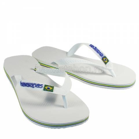 Купить белые, зеленые, синие  сланцы brasil logo в магазинах Streetball - изображение 1 картинки