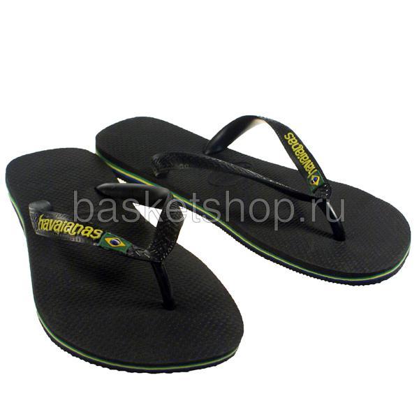 черные, желтые  сланцы brasil logo 4110850-0090 - цена, описание, фото 1
