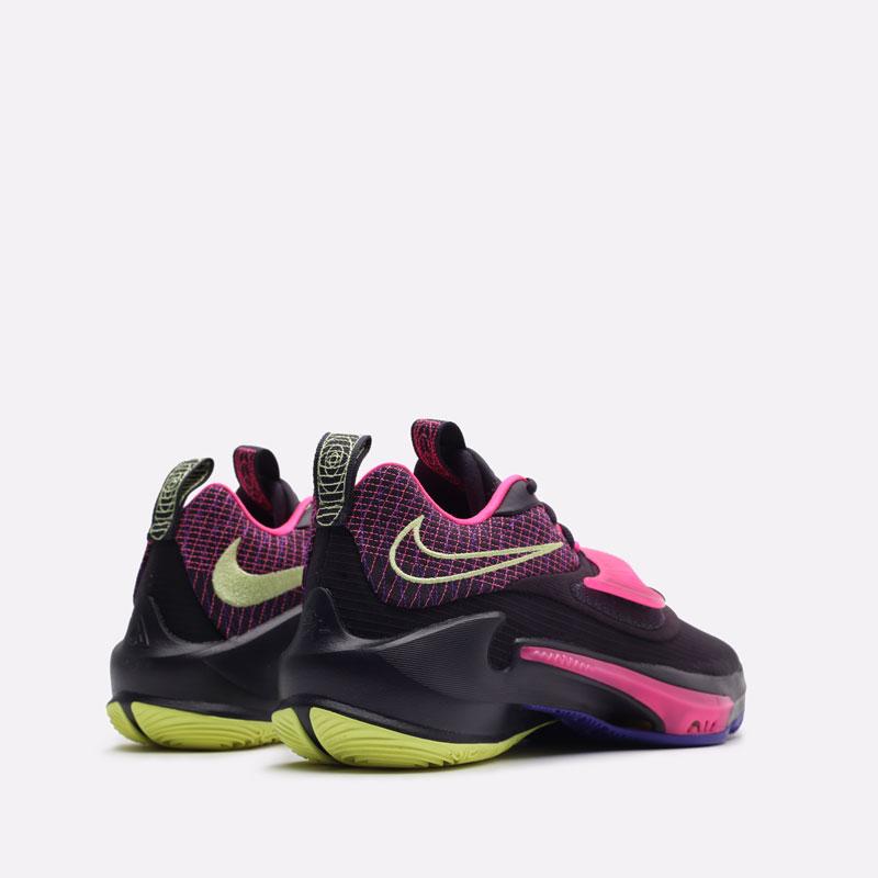 черные баскетбольные кроссовки Nike Zoom Freak 3 DA0694-500 - цена, описание, фото 3