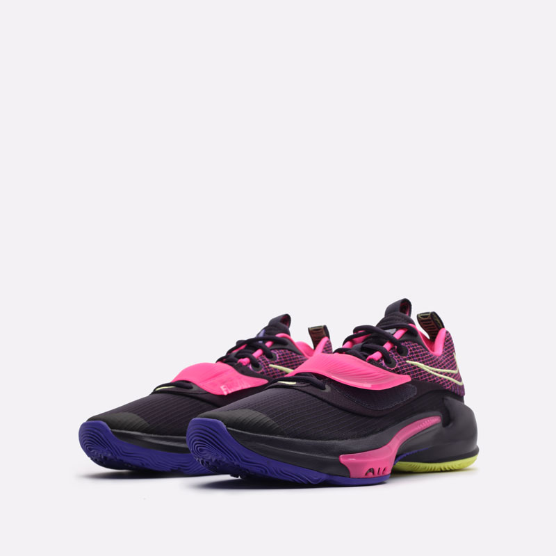 черные баскетбольные кроссовки Nike Zoom Freak 3 DA0694-500 - цена, описание, фото 4
