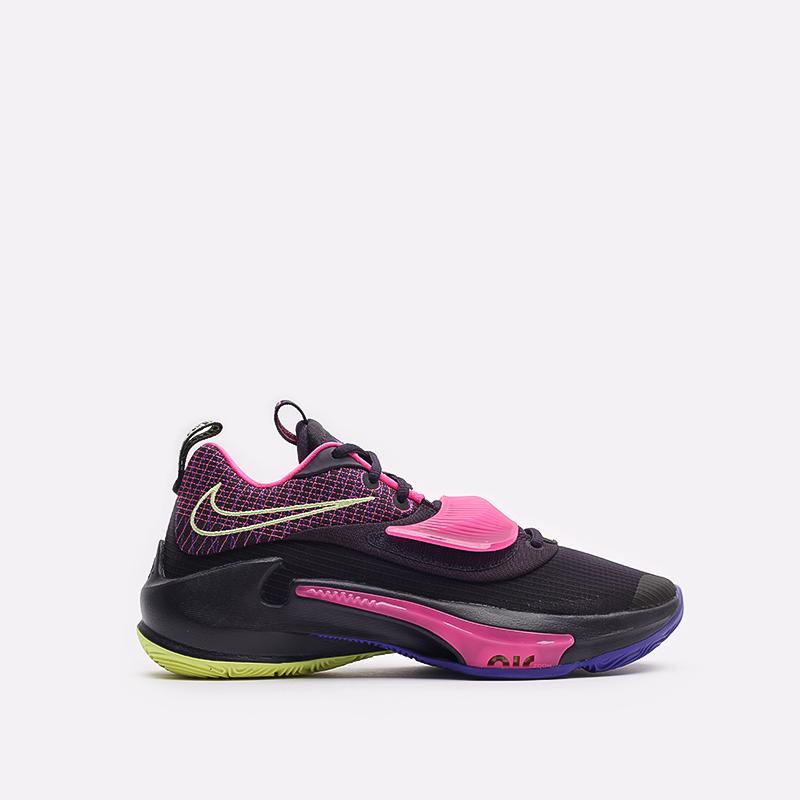 черные баскетбольные кроссовки Nike Zoom Freak 3 DA0694-500 - цена, описание, фото 1
