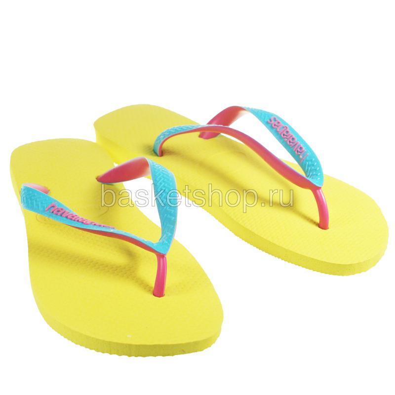 желтые, розовые, голубые  сланцы top mix 4115549-2197 - цена, описание, фото 1