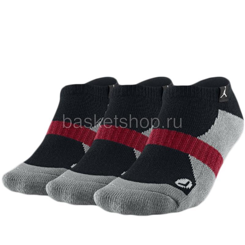 No-Show Socks (3 пары)Носки<br>80% хлопок, 16% нейлон, 3% полиэстер, 1% спандекс<br><br>Цвет: черный, серый, красный<br>Размеры US: S