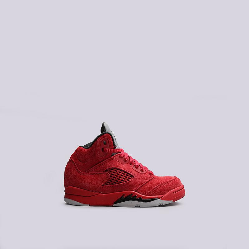 Кроссовки Jordan V Retro BPОбувь детская<br>Кожа, пластик, текстиль, резина<br><br>Цвет: Красный<br>Размеры US: 10.5C;13C;2.5Y;2Y;3Y<br>Пол: Детский