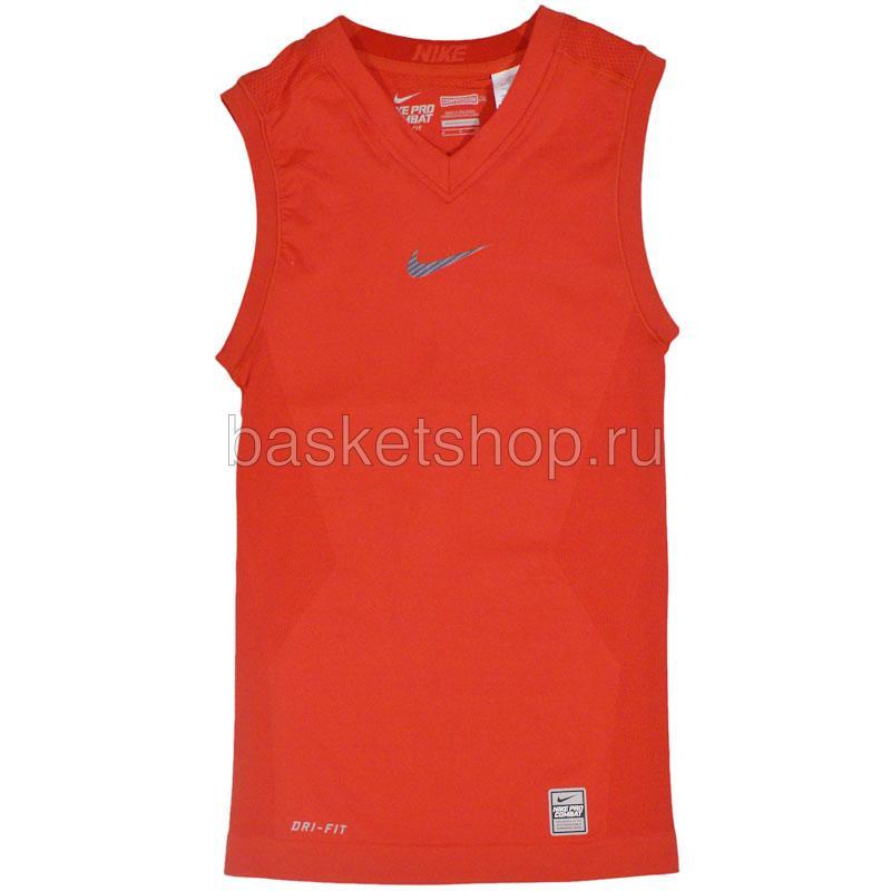 Майка Nike Pro VaporКомпрессионное белье<br>полиэстер<br><br>Цвет: красный<br>Размеры US: S;XL<br>Пол: Мужской