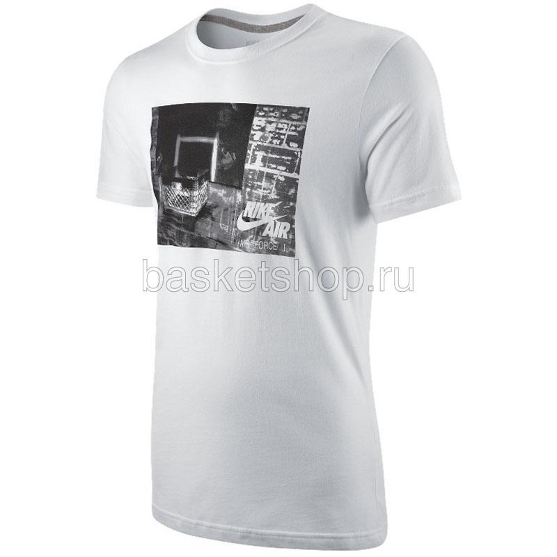 a601f31e27c37 мужскую белую, серую футболка hoop dreams 464818-100 - цена, описание, фото