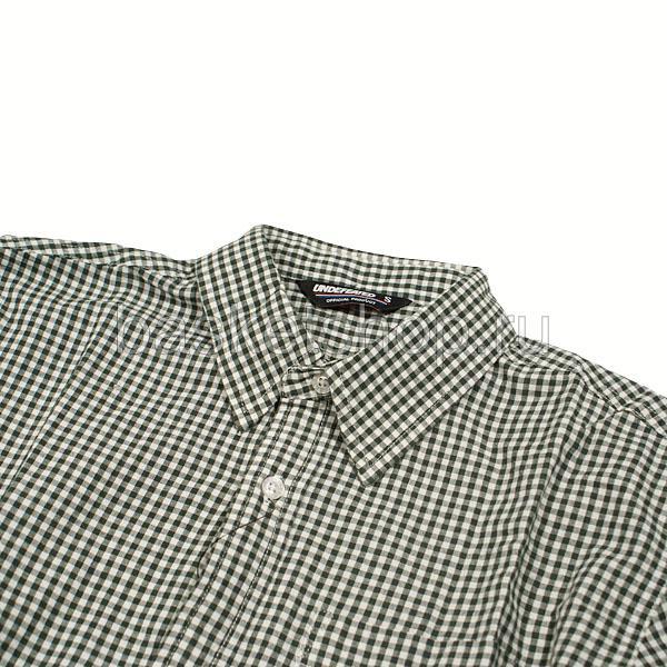 Купить мужскую зеленую, белую  рубашку в магазинах Streetball изображение - 2 картинки