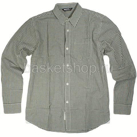 Купить мужскую зеленую, белую  рубашку в магазинах Streetball - изображение 1 картинки