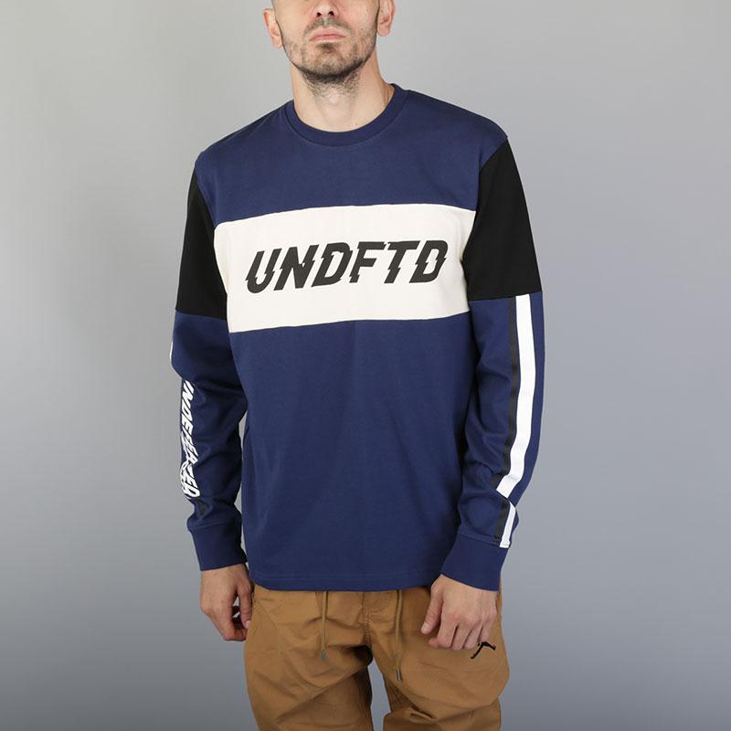 Толстовка Undftd Racer LS JerseyТолстовки свитера<br>Хлопок<br><br>Цвет: Синий<br>Размеры US: S;M;L;XL<br>Пол: Мужской