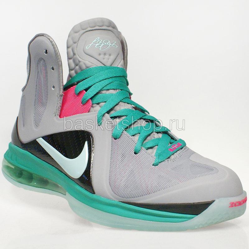 56e81171a мужские серые, зеленые, розовые кроссовки lebron 9 p.s. elite 516958-001 -  цена