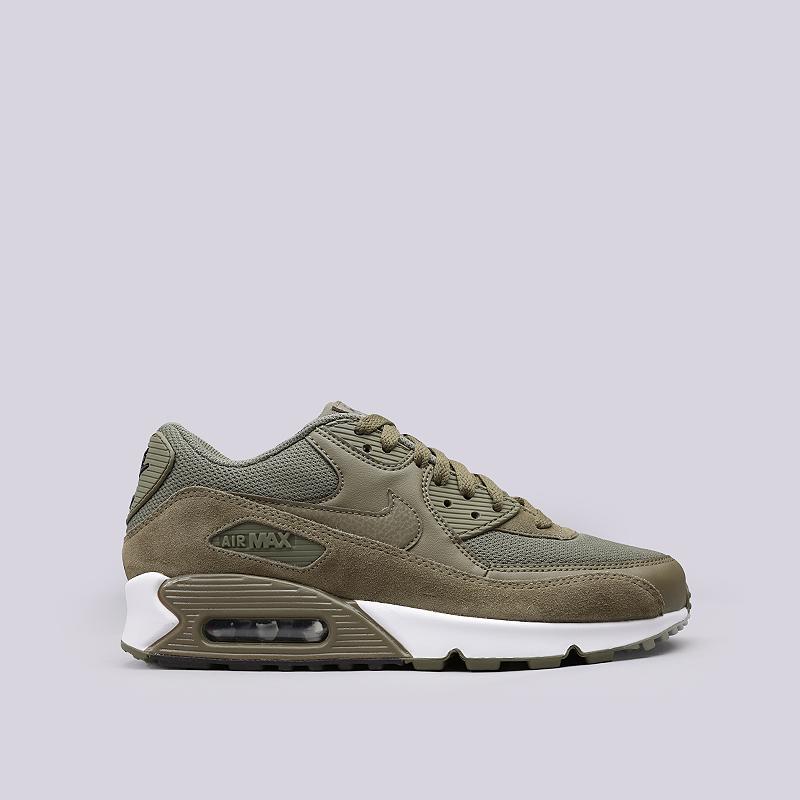 Кроссовки Nike Sportswear Air Max 90 EssentialКроссовки lifestyle<br>Кожа, синтетика, текстиль, резина<br><br>Цвет: Зеленый<br>Размеры US: 8;8.5;9;9.5;10;10.5;11;11.5;12<br>Пол: Мужской