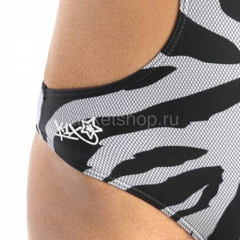 Купить женский черный, белый  shorty monokini в магазинах Streetball - изображение 2 картинки