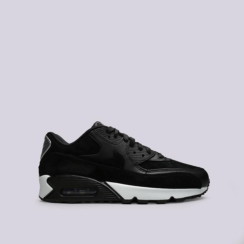 Кроссовки Nike Air Max 90 PremiumКроссовки lifestyle<br>Кожа, текстиль, резина<br><br>Цвет: Черный<br>Размеры US: 9<br>Пол: Мужской