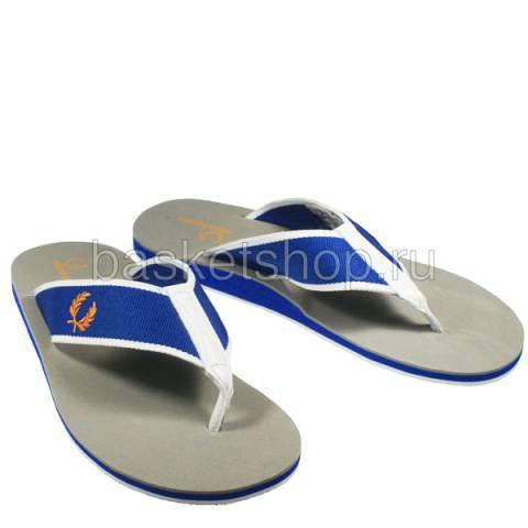 мужские серые, синие, белые  шлепки b7014-119 - цена, описание, фото 1