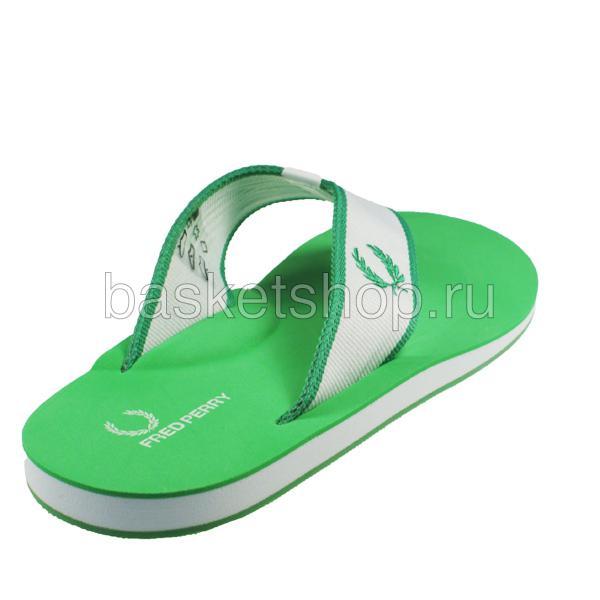 мужские зеленые, белые  шлепки b7014-824 - цена, описание, фото 3