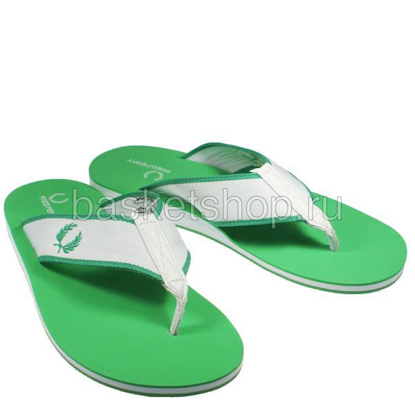 мужские зеленые, белые  шлепки b7014-824 - цена, описание, фото 1