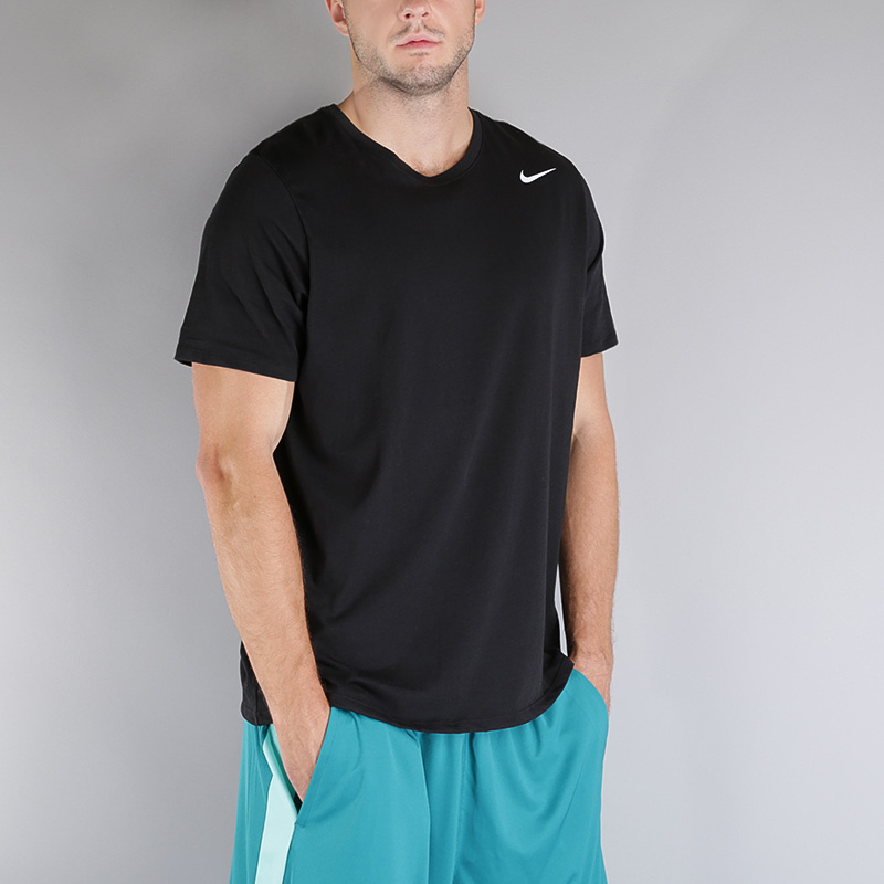 Футболка Nike M NK Dry Tee DFC 2.0Футболки<br>Хлопок, полиэстер<br><br>Цвет: Черный<br>Размеры US: S;XL<br>Пол: Мужской