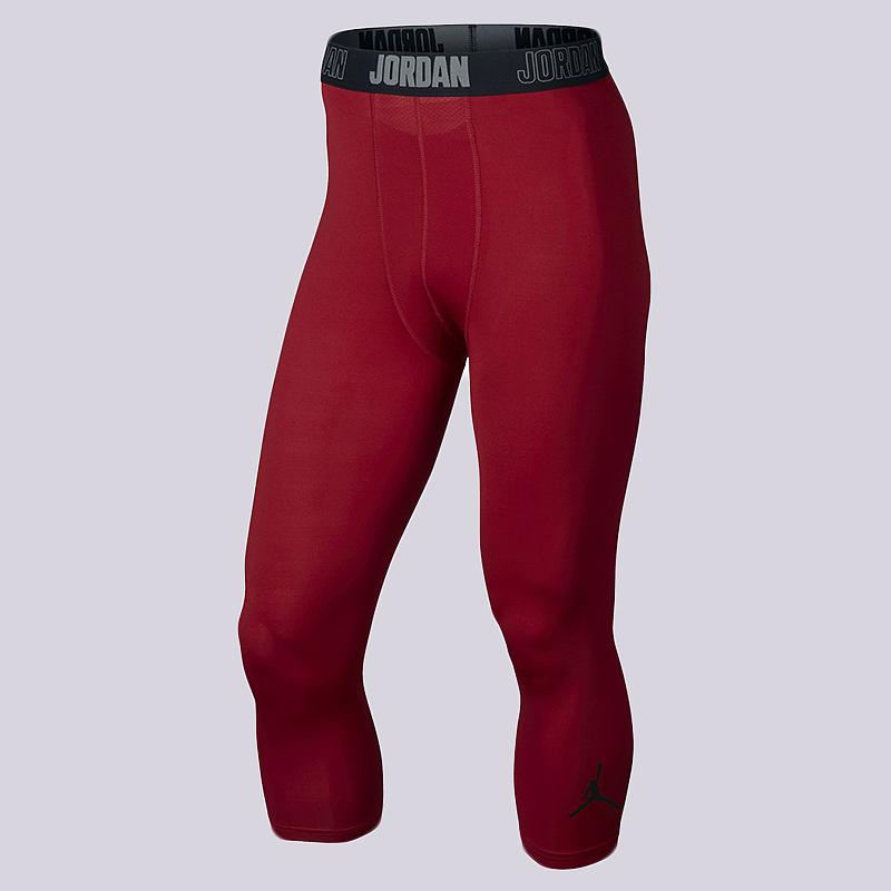 Тайтсы Jordan 23 Alpha Dry 3/4 TightКомпрессионное белье<br>84% полиэстер, 16% эластан<br><br>Цвет: Красный<br>Размеры US: XS;S<br>Пол: Мужской