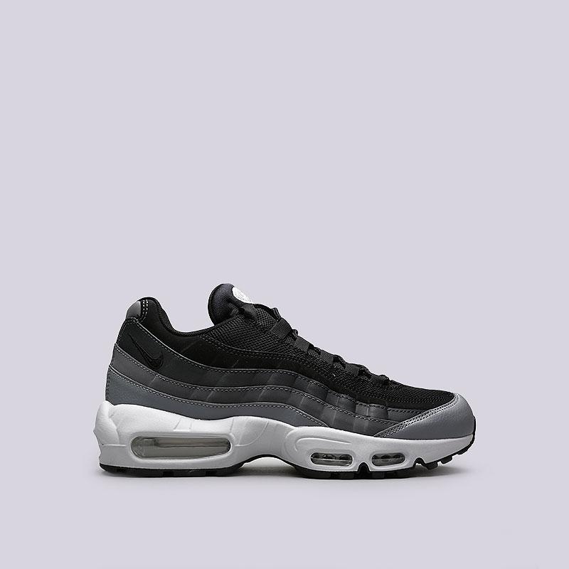 Кроссовки Nike Air Max 95 EssentialКроссовки lifestyle<br>Кожа, синтетика, текстиль, резина, пластик<br><br>Цвет: Черный, серый<br>Размеры US: 8;9;10.5;11.5<br>Пол: Мужской
