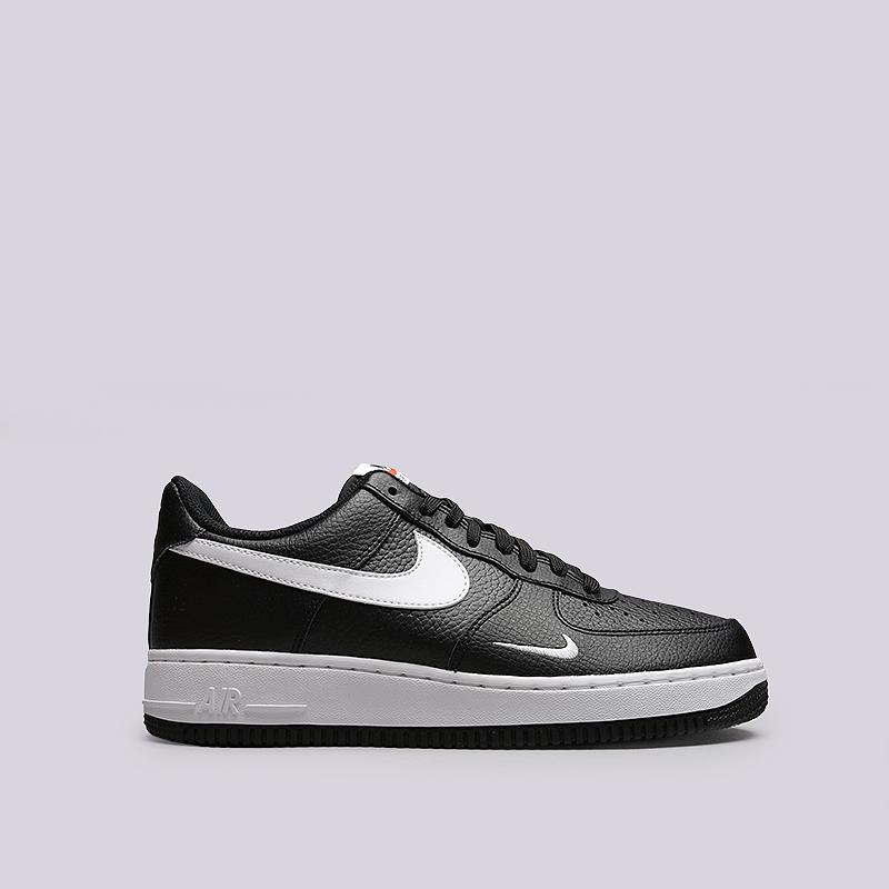 Кроссовки Nike Air Force 1Кроссовки lifestyle<br>Кожа, текстиль, резина<br><br>Цвет: Черный<br>Размеры US: 8.5;11;11.5;12<br>Пол: Мужской