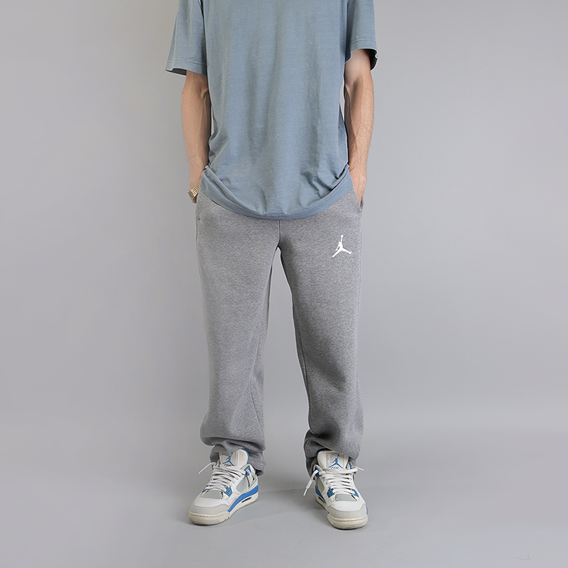 Брюки Jordan Flight  Basketball PantsБрюки и джинсы<br>80% хлопок, 20% полиэстер<br><br>Цвет: Серый<br>Размеры US: S;M;L;XL<br>Пол: Мужской