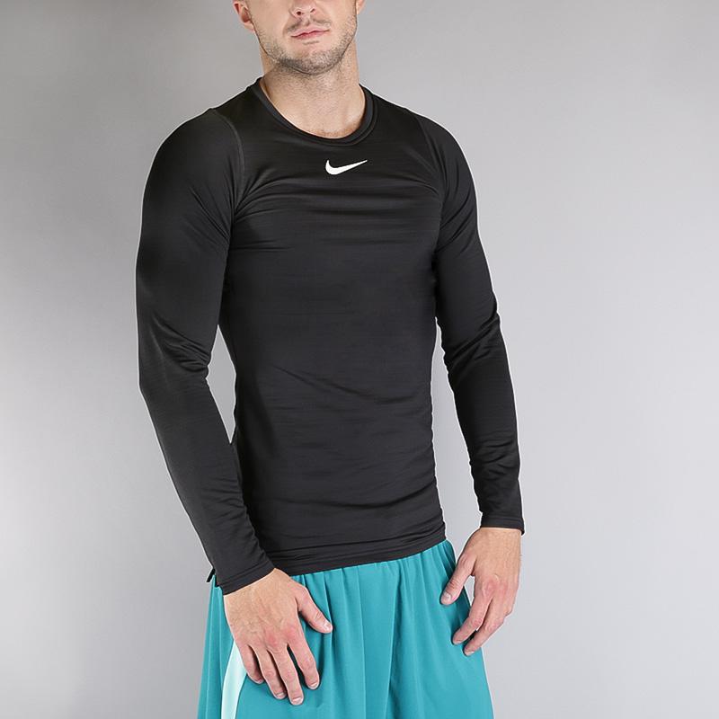 Лонгслив Nike M NP WM TOP LS COMPКомпрессионное белье<br>Полиэстер, эластан<br><br>Цвет: Черный<br>Размеры US: S;M;L;XL;2XL<br>Пол: Мужской