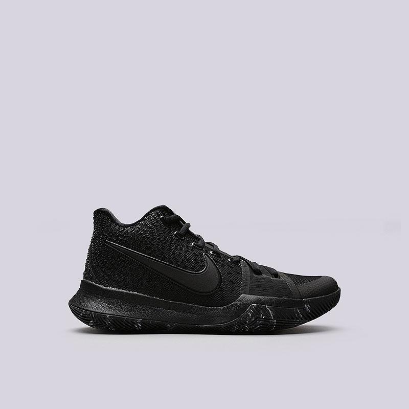 Кроссовки Nike Kyrie 3Кроссовки баскетбольные<br>Текстиль, пластик, резина<br><br>Цвет: Черный<br>Размеры US: 15<br>Пол: Мужской