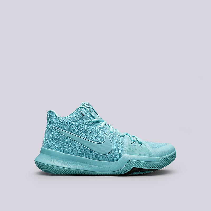 Кроссовки Nike Kyrie 3Кроссовки баскетбольные<br>Текстиль, пластик, резина<br><br>Цвет: Голубой<br>Размеры US: 9;9.5<br>Пол: Мужской