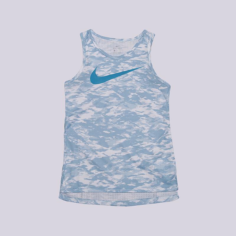 Майка Nike Dry Elite Womens Basketball TankБезрукавки<br>100% полиэстер<br><br>Цвет: Голубой<br>Размеры US: XS;S;M;L<br>Пол: Женский