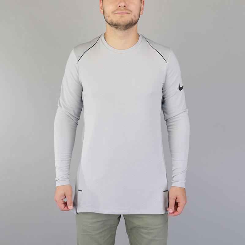 Лонгслив Nike Dry Hyper Elite Mens Long-Sleeve Basketball TopФутболки<br>Вискоза, полиэстер, эластан<br><br>Цвет: Серый<br>Размеры US: S;M;L;XL;2XL<br>Пол: Мужской