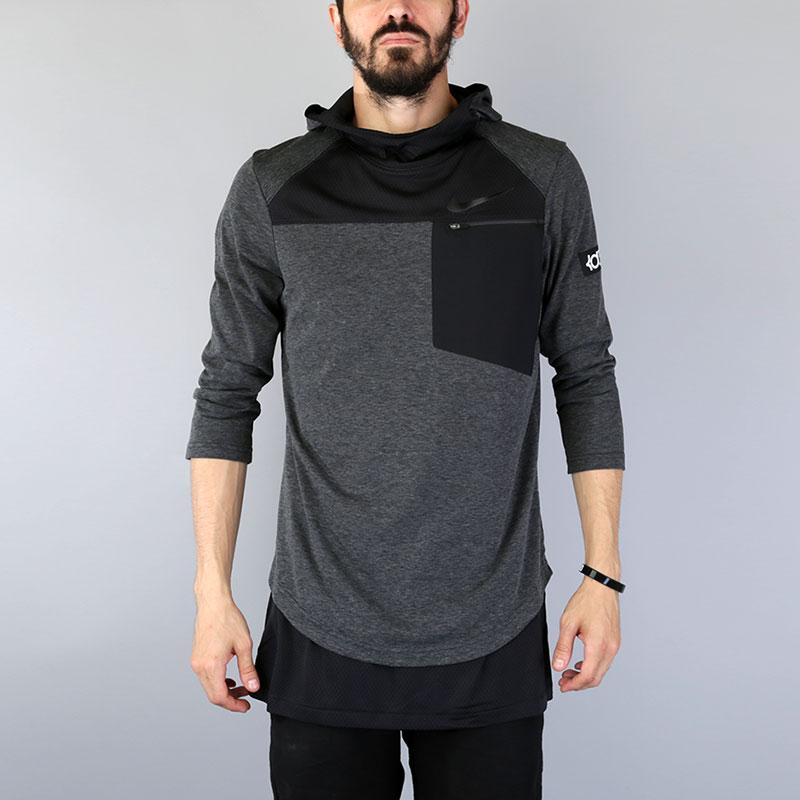 Футболка 3/4 Nike KD Zonal Cooling TopФутболки<br>Полиэстер, хлопок<br><br>Цвет: Серый<br>Размеры US: L<br>Пол: Мужской