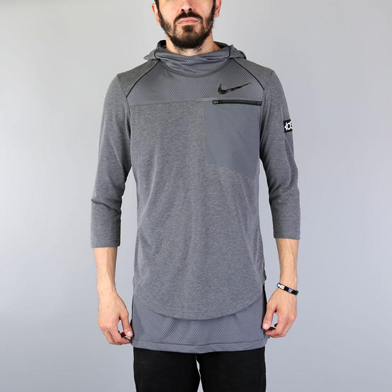 Футболка 3/4 Nike KD Zonal Cooling TopФутболки<br>Полиэстер, хлопок<br><br>Цвет: Серый<br>Размеры US: S;M;L;XL;2XL<br>Пол: Мужской