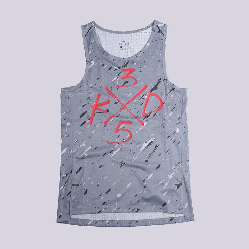 Майка Nike KD Hyperelite TankБезрукавки<br>100% полиэстер<br><br>Цвет: Серый<br>Размеры US: S;M;L;XL;2XL<br>Пол: Мужской