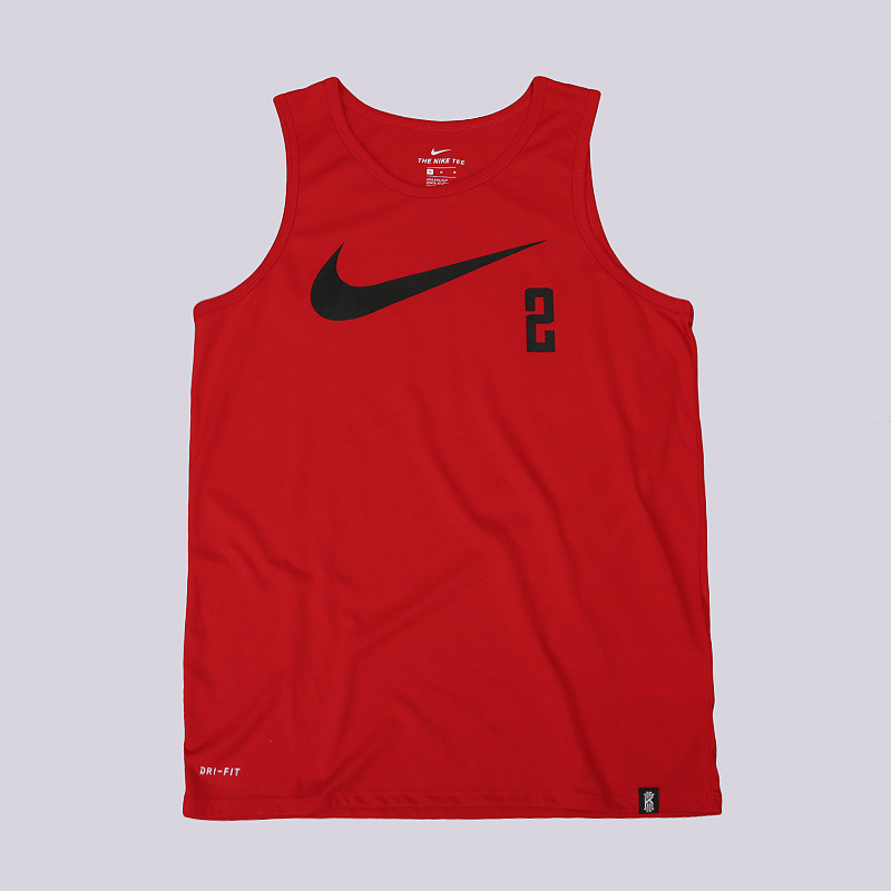 Майка Nike Dry Kyrie Basketball TankБезрукавки<br>75% полиэстер, 13% хлопок, 12% вискоза<br><br>Цвет: Красный<br>Размеры US: S;M;L;XL;2XL<br>Пол: Мужской