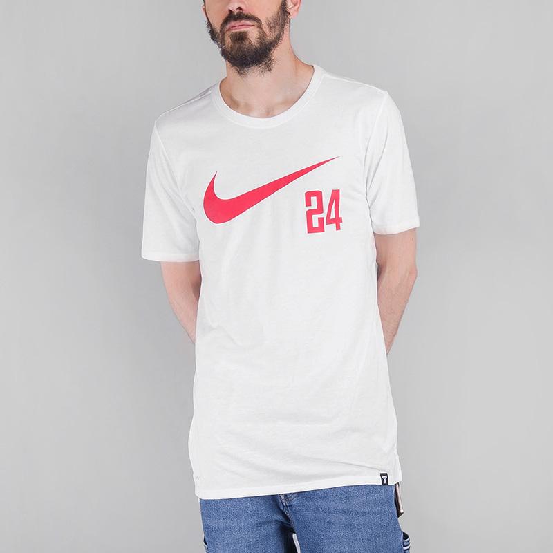 Футболка Nike DRY KOBEФутболки<br>Хлопок, полиэстер<br><br>Цвет: Белый<br>Размеры US: S;M;L;XL;2XL<br>Пол: Мужской