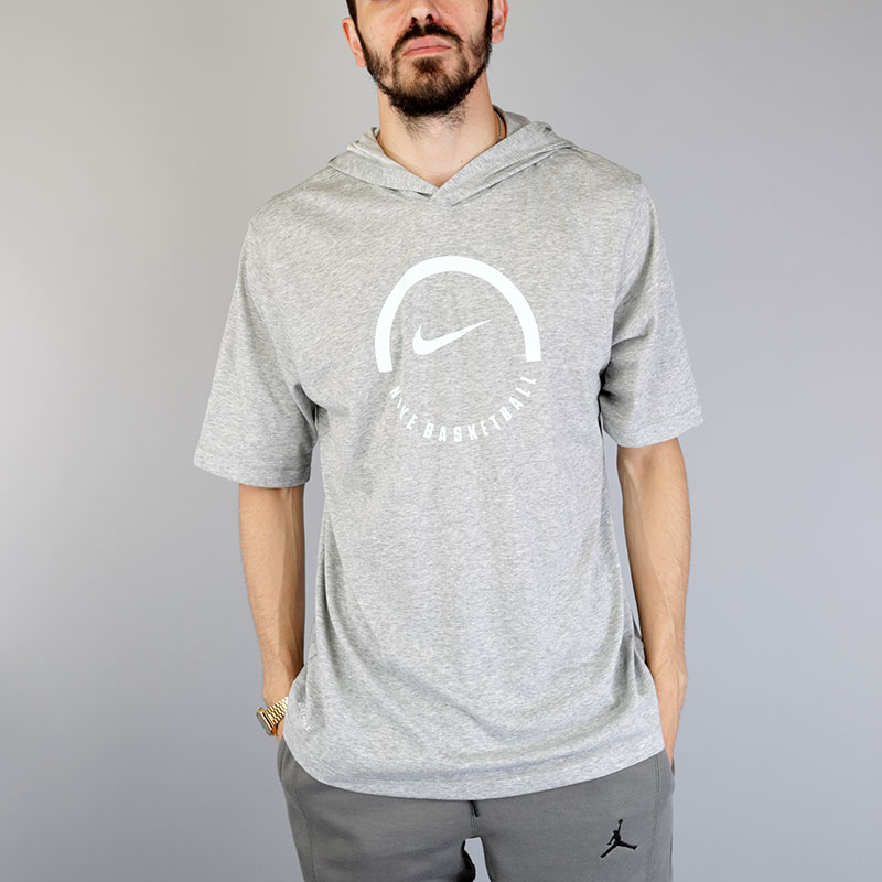 Футболка Nike M NK Dry Tee LockupФутболки<br>Хлопок, полиэстер<br><br>Цвет: Серый<br>Размеры US: S;M;L;XL;2XL<br>Пол: Мужской