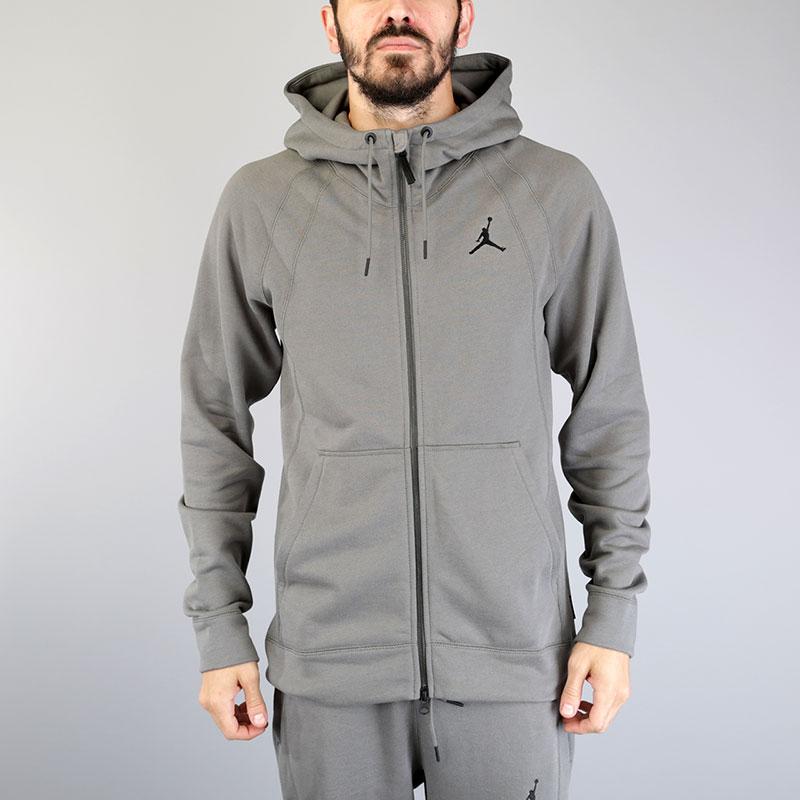 Толстовка Jordan Wings Fleece FZТолстовки свитера<br>Хлопок, вискоза, полиэстер<br><br>Цвет: Серый<br>Размеры US: S;M;L;XL;2XL<br>Пол: Мужской