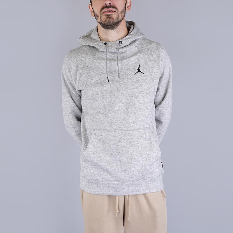 Толстовка Jordan Wings Fleece HoodieТолстовки свитера<br>73% хлопок, 18% вискоза, 9% полиэстер<br><br>Цвет: Серый<br>Размеры US: S;M;L;XL;2XL<br>Пол: Мужской