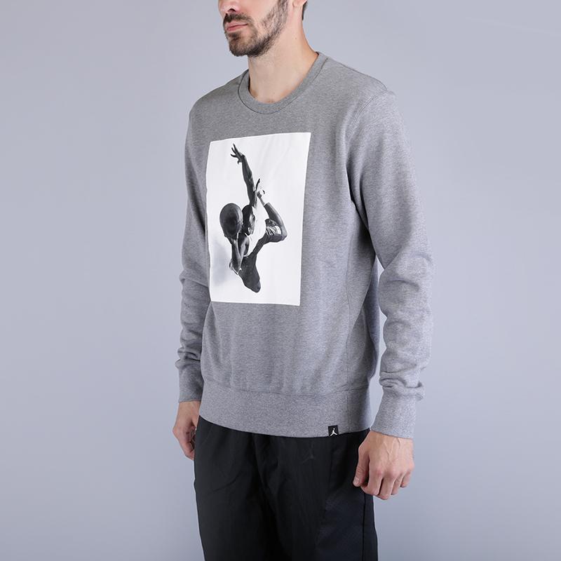 Толстовка Jordan Sportswear Flight Lite SweatshirtТолстовки свитера<br>80% хлопок, 20% полиэстер<br><br>Цвет: Серый<br>Размеры US: S;M;L;XL;2XL<br>Пол: Мужской